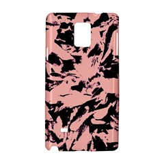 Old Rose Black Abstract Military Camouflage Samsung Galaxy Note 4 Hardshell Case by Costasonlineshop
