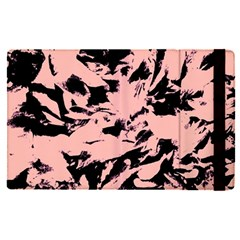 Old Rose Black Abstract Military Camouflage Apple Ipad Pro 12 9   Flip Case by Costasonlineshop