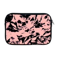 Old Rose Black Abstract Military Camouflage Apple Macbook Pro 17  Zipper Case by Costasonlineshop