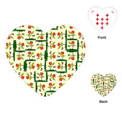 Plants And Flowers Playing Cards (heart)  by linceazul