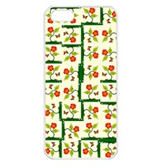 Plants And Flowers Apple Iphone 5 Seamless Case (white) by linceazul