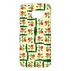 Plants And Flowers Samsung Galaxy S7 Edge Hardshell Case by linceazul
