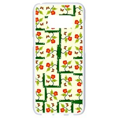 Plants And Flowers Samsung Galaxy S8 White Seamless Case by linceazul
