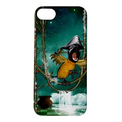 Funny Pirate Parrot With Hat Apple Iphone 5s/ Se Hardshell Case by FantasyWorld7