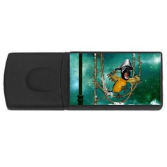 Funny Pirate Parrot With Hat Rectangular Usb Flash Drive by FantasyWorld7