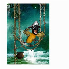 Funny Pirate Parrot With Hat Large Garden Flag (two Sides) by FantasyWorld7
