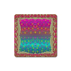 Years Of Peace Living In A Paradise Of Calm And Colors Square Magnet by pepitasart