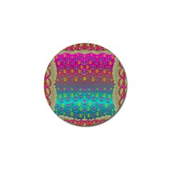 Years Of Peace Living In A Paradise Of Calm And Colors Golf Ball Marker (4 Pack) by pepitasart