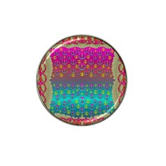Years Of Peace Living In A Paradise Of Calm And Colors Hat Clip Ball Marker (4 Pack) by pepitasart