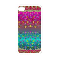 Years Of Peace Living In A Paradise Of Calm And Colors Apple Iphone 4 Case (white) by pepitasart