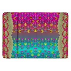 Years Of Peace Living In A Paradise Of Calm And Colors Samsung Galaxy Tab 8 9  P7300 Flip Case by pepitasart
