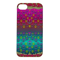 Years Of Peace Living In A Paradise Of Calm And Colors Apple Iphone 5s/ Se Hardshell Case by pepitasart