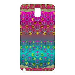 Years Of Peace Living In A Paradise Of Calm And Colors Samsung Galaxy Note 3 N9005 Hardshell Back Case by pepitasart