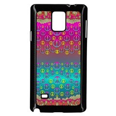 Years Of Peace Living In A Paradise Of Calm And Colors Samsung Galaxy Note 4 Case (black) by pepitasart