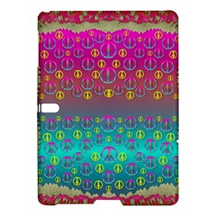 Years Of Peace Living In A Paradise Of Calm And Colors Samsung Galaxy Tab S (10 5 ) Hardshell Case  by pepitasart