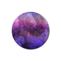 Ultra Violet Dream Girl Rubber Round Coaster (4 Pack)  by 8fugoso