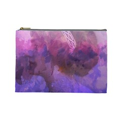 Ultra Violet Dream Girl Cosmetic Bag (large)  by 8fugoso