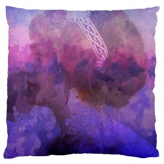 Ultra Violet Dream Girl Large Cushion Case (one Side) by 8fugoso