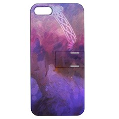 Ultra Violet Dream Girl Apple Iphone 5 Hardshell Case With Stand by 8fugoso
