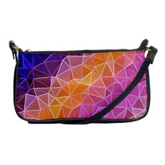 Crystalized Rainbow Shoulder Clutch Bags by 8fugoso