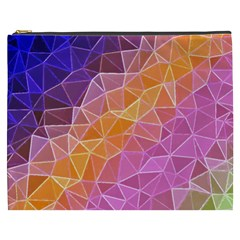 Crystalized Rainbow Cosmetic Bag (xxxl)  by 8fugoso