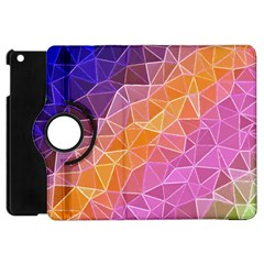 Crystalized Rainbow Apple Ipad Mini Flip 360 Case by 8fugoso