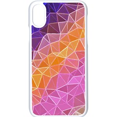 Crystalized Rainbow Apple Iphone X Seamless Case (white) by 8fugoso