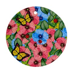 Floral Scene Ornament (round) by linceazul