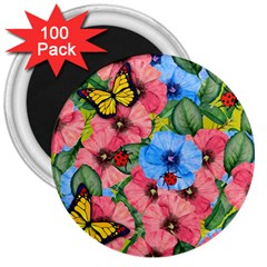 Floral Scene 3  Magnets (100 Pack) by linceazul