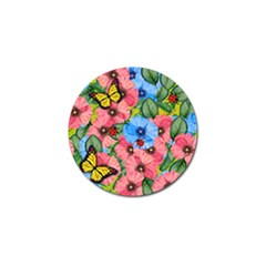 Floral Scene Golf Ball Marker (10 Pack) by linceazul
