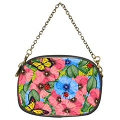 Floral Scene Chain Purses (two Sides)