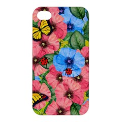 Floral Scene Apple Iphone 4/4s Premium Hardshell Case by linceazul