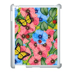 Floral Scene Apple Ipad 3/4 Case (white) by linceazul
