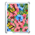 Floral scene Apple iPad 3/4 Case (White) Front