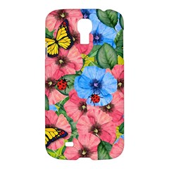 Floral Scene Samsung Galaxy S4 I9500/i9505 Hardshell Case by linceazul