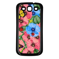 Floral Scene Samsung Galaxy S3 Back Case (black) by linceazul