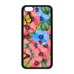 Floral Scene Apple Iphone 5c Seamless Case (black) by linceazul