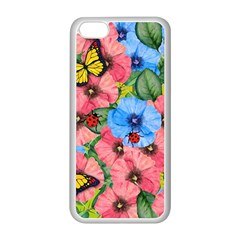 Floral Scene Apple Iphone 5c Seamless Case (white) by linceazul