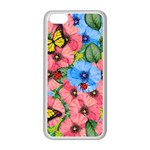 Floral scene Apple iPhone 5C Seamless Case (White) Front