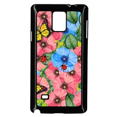 Floral Scene Samsung Galaxy Note 4 Case (black) by linceazul