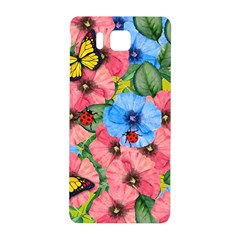 Floral Scene Samsung Galaxy Alpha Hardshell Back Case by linceazul