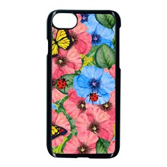 Floral Scene Apple Iphone 8 Seamless Case (black) by linceazul