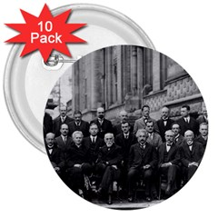 1927 Solvay Conference On Quantum Mechanics 3  Buttons (10 Pack)  by thearts