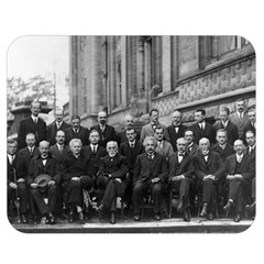1927 Solvay Conference On Quantum Mechanics Double Sided Flano Blanket (medium)  by thearts