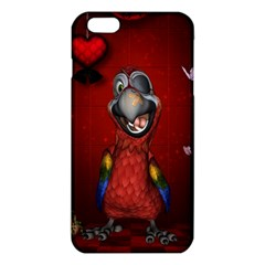 Funny, Cute Parrot With Butterflies Iphone 6 Plus/6s Plus Tpu Case by FantasyWorld7