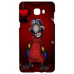 Funny, Cute Parrot With Butterflies Samsung C9 Pro Hardshell Case  by FantasyWorld7