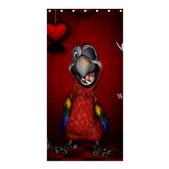 Funny, Cute Parrot With Butterflies Shower Curtain 36  X 72  (stall)  by FantasyWorld7