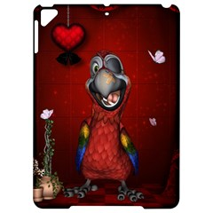 Funny, Cute Parrot With Butterflies Apple Ipad Pro 9 7   Hardshell Case by FantasyWorld7