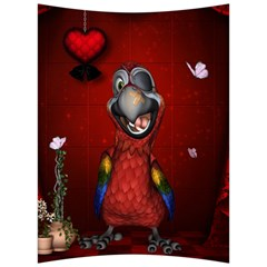 Funny, Cute Parrot With Butterflies Back Support Cushion by FantasyWorld7