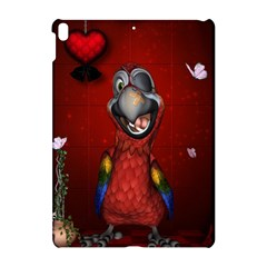 Funny, Cute Parrot With Butterflies Apple Ipad Pro 10 5   Hardshell Case by FantasyWorld7